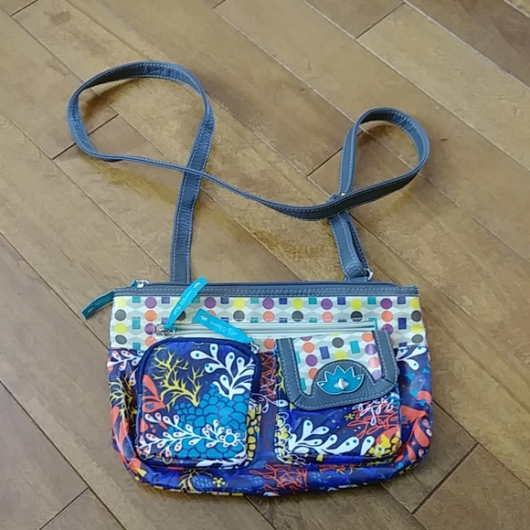 Lily Bloom coral Reef Eco Shine Tracey Crossbody